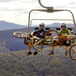 Mountain bike riders on the Horse Hill Chair