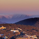 Sunset over Mt Buller Village