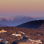Sunset over Mt Buller Village