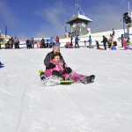 Fun thrills on Mt Buller's toboggan slope