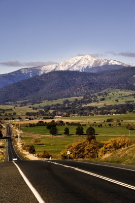 The road to Mt Buller