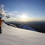 A time to reflect on a brilliant day's skiing on top of the Summit, Mt Buller's highest altitude