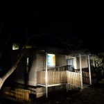 Merrijig accommodation at Mt Buller - lodge at night in summer