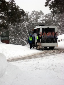 The Mt Buller village shuttle bus