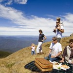 A family picnic on the Summit