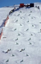 Snowboarding slalom at Mount Buller